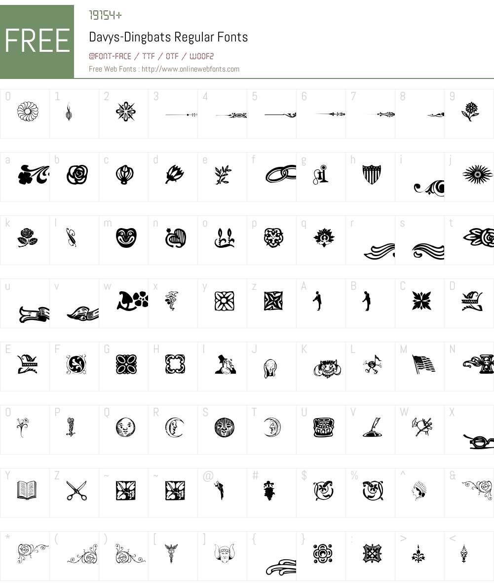 Davys-Dingbats Font Screenshots