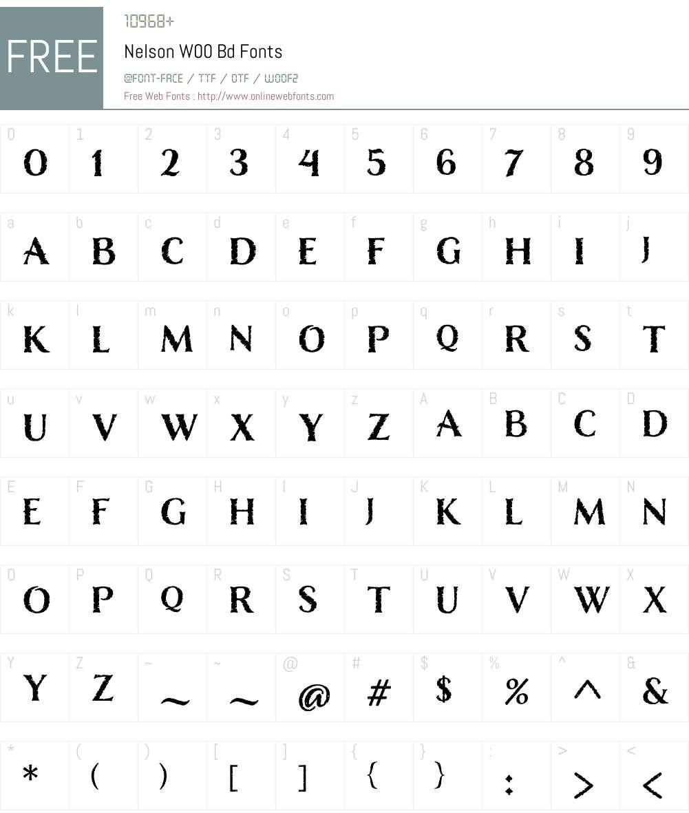 NelsonW00-Bd Font Screenshots