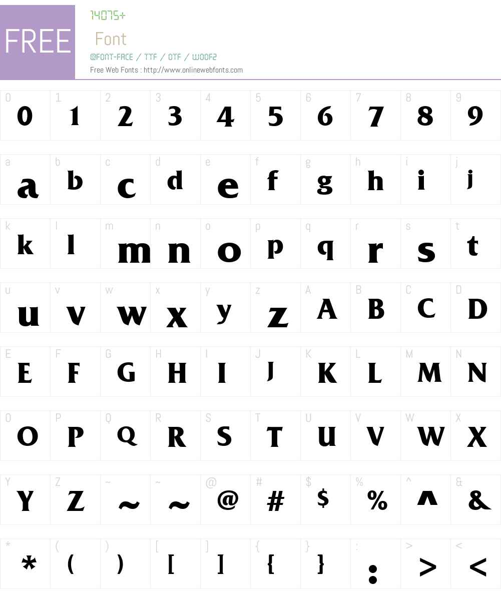 Friz Quadrata Font Screenshots