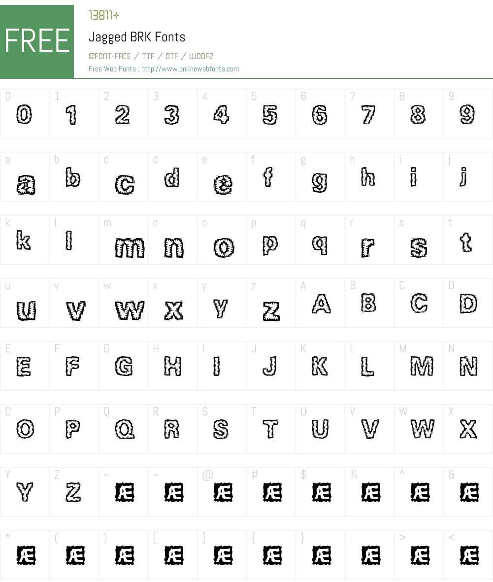 Jagged BRK Font Screenshots