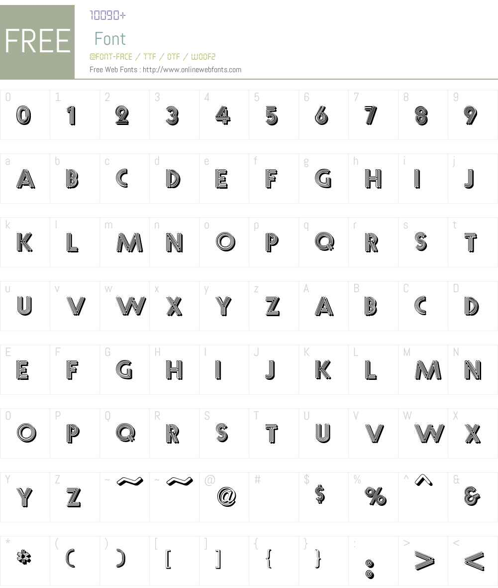 Multistrokes Font Screenshots