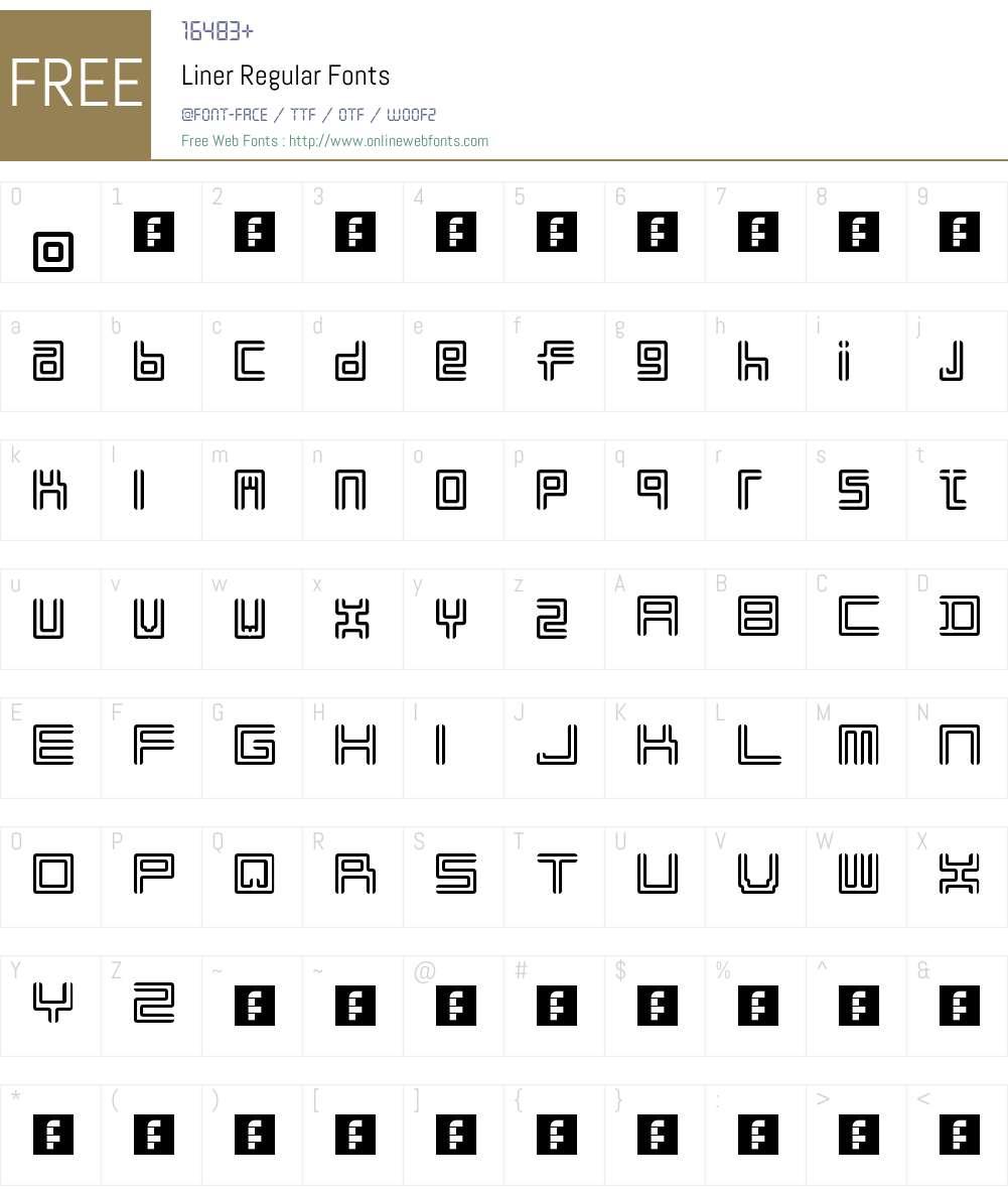 Liner Font Screenshots