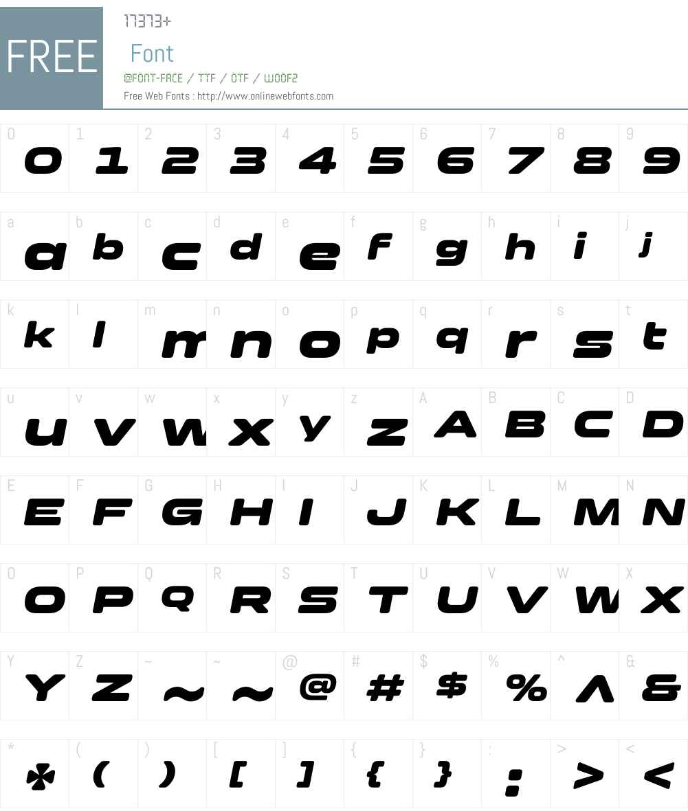 Clonoid Font Screenshots