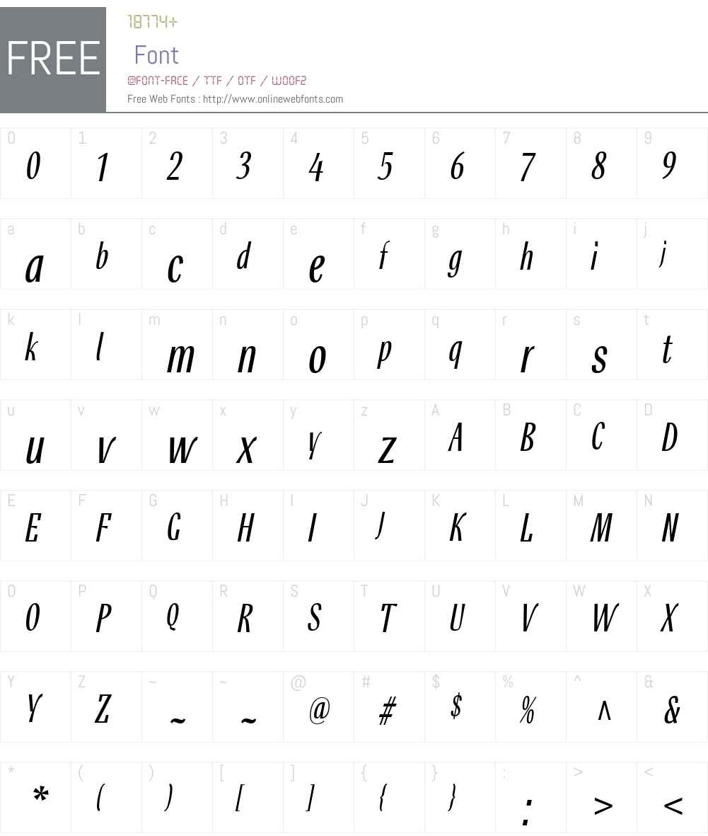 RossikaW01-LightItalic Font Screenshots