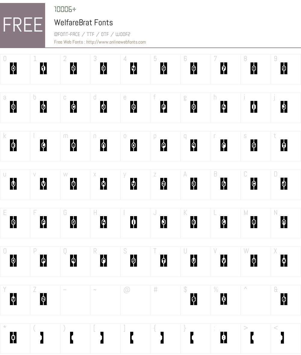 WelfareBrat Font Screenshots