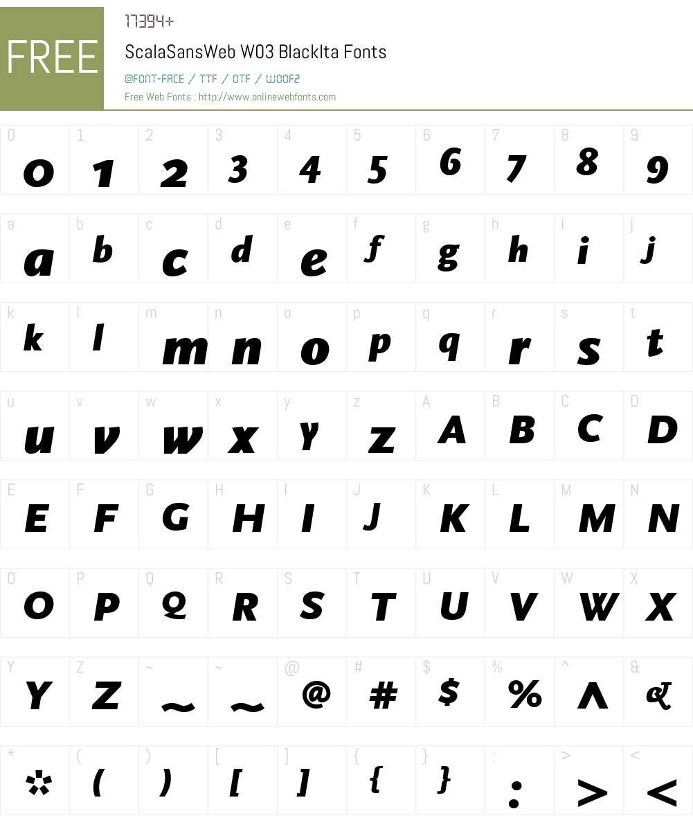 FF Scala Sans Font Screenshots