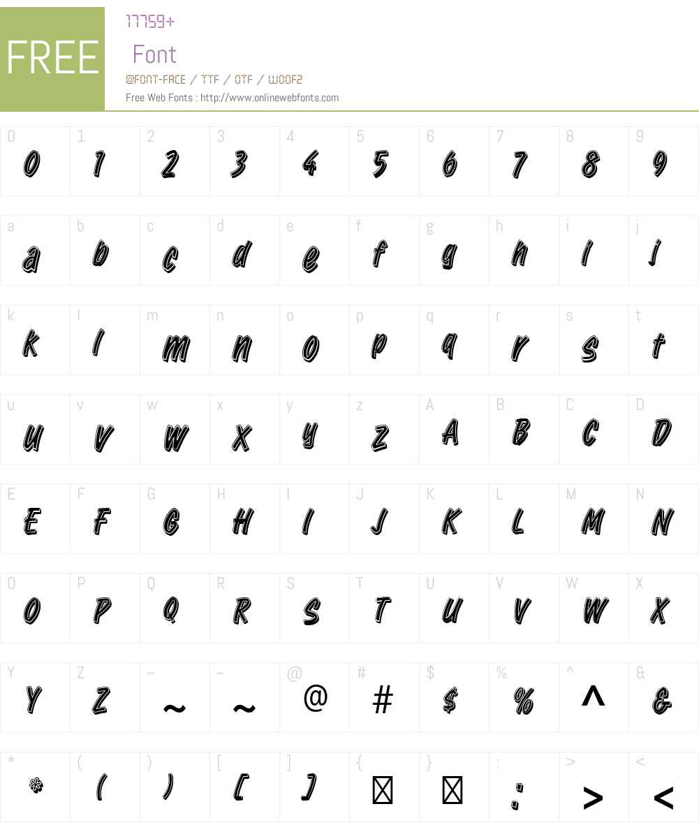 RetailScriptW00 Font Screenshots