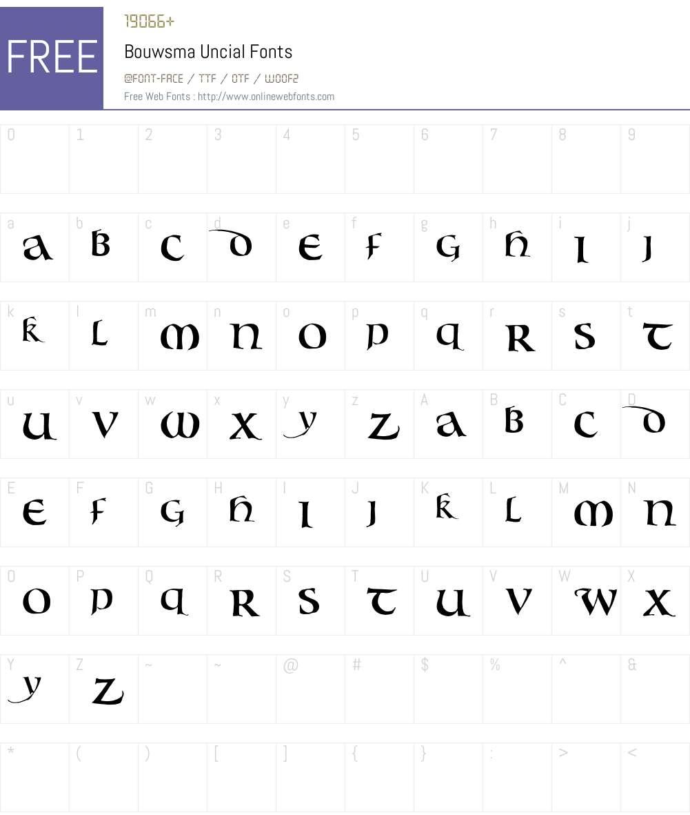 Bouwsma Uncial Font Screenshots