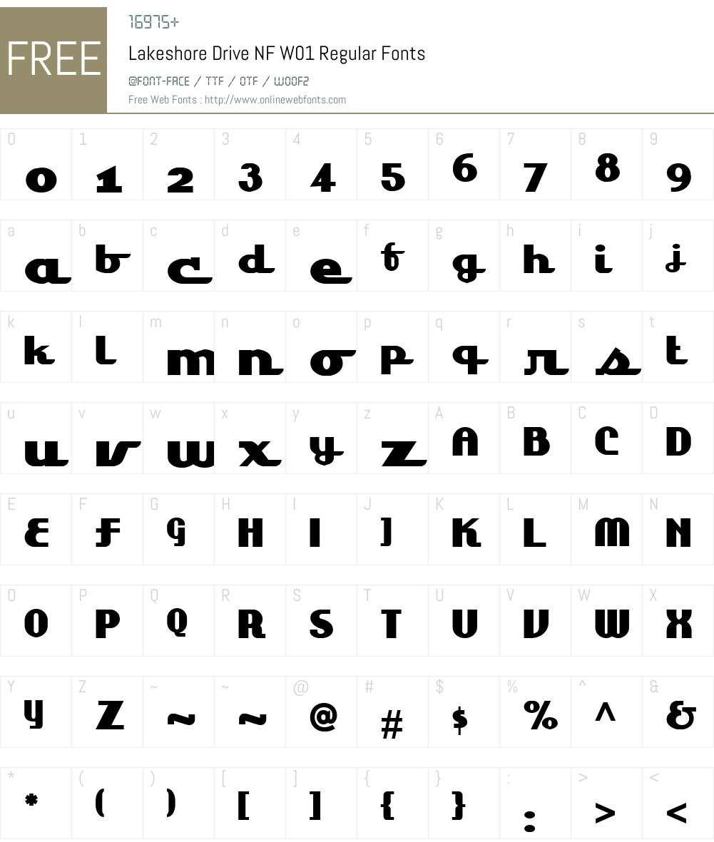 LakeshoreDriveNFW01-Regular Font Screenshots