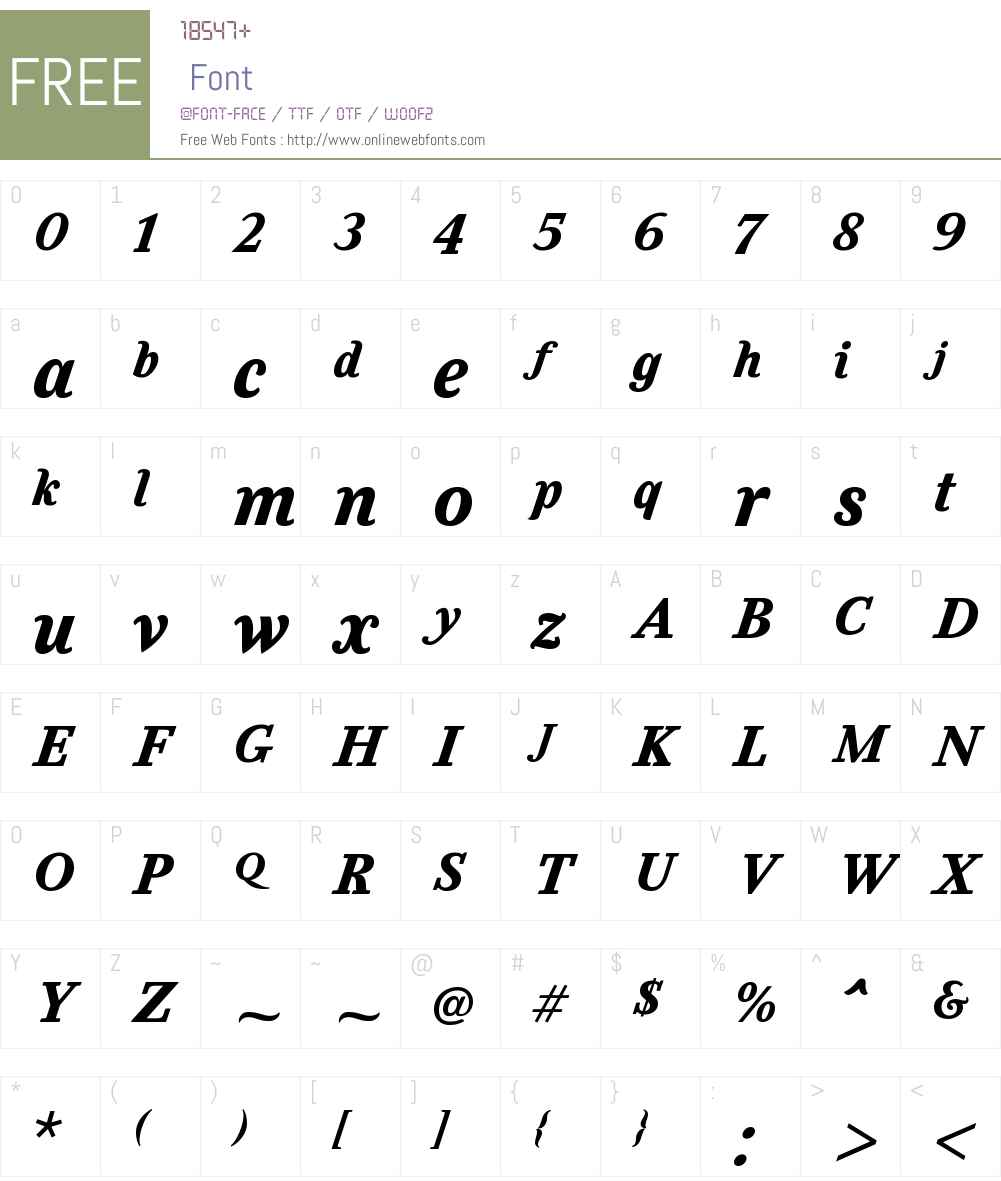 FeliceW01-BlackItalic Font Screenshots