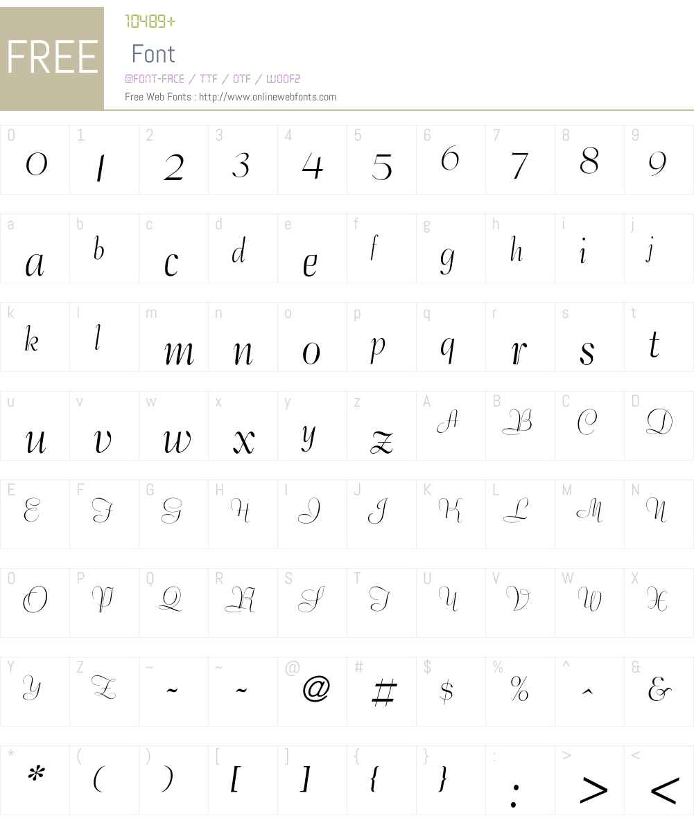 Bernhard Font Screenshots