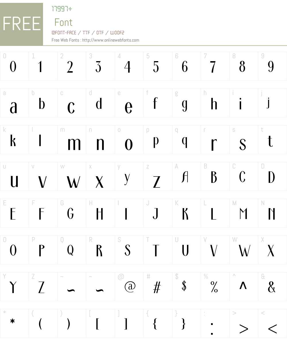 Ardeco Font Screenshots