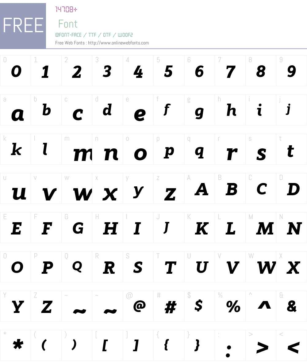ModumW00-HeavyItalic Font Screenshots