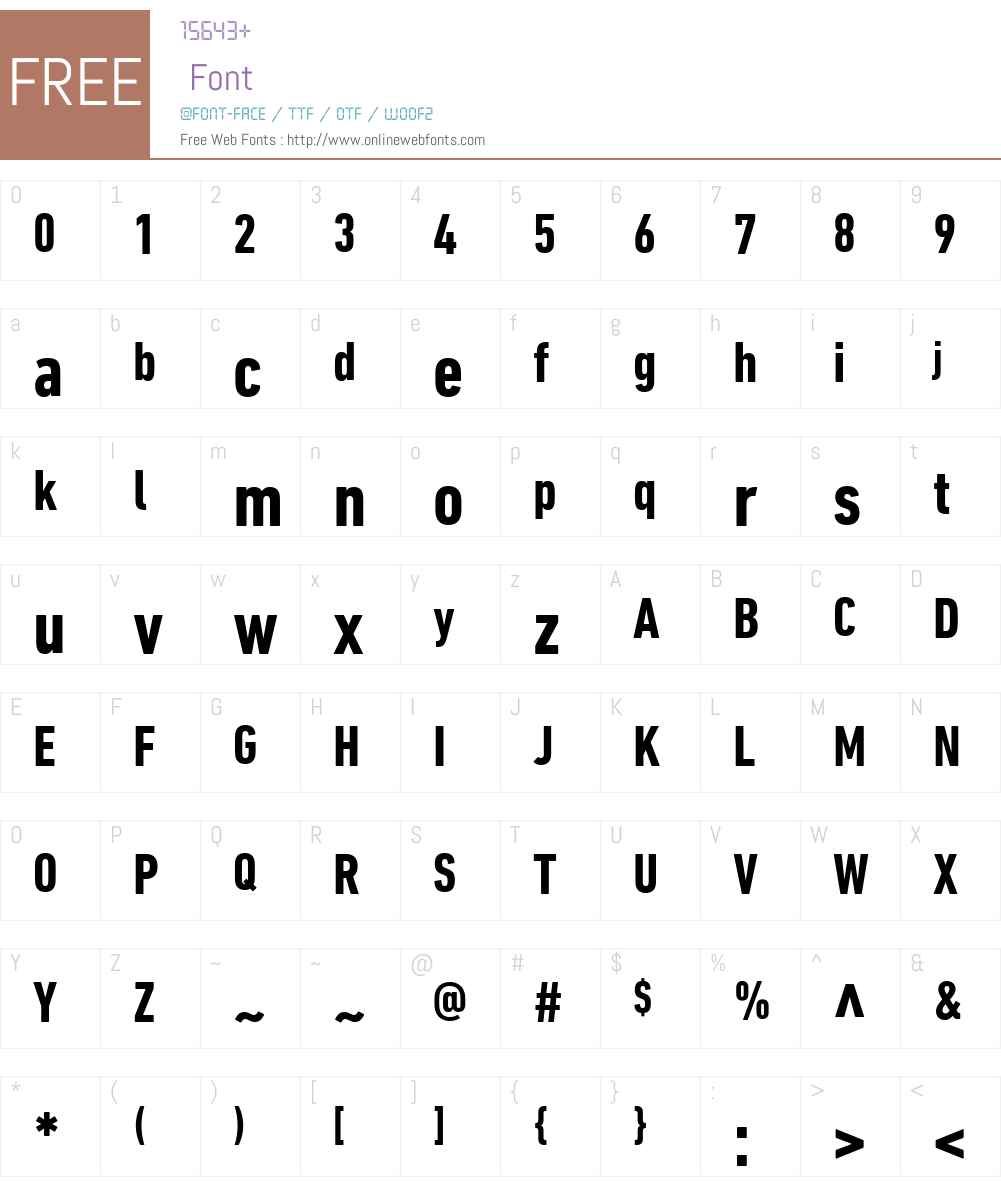 DINNextW01-CondensedBold Font Screenshots