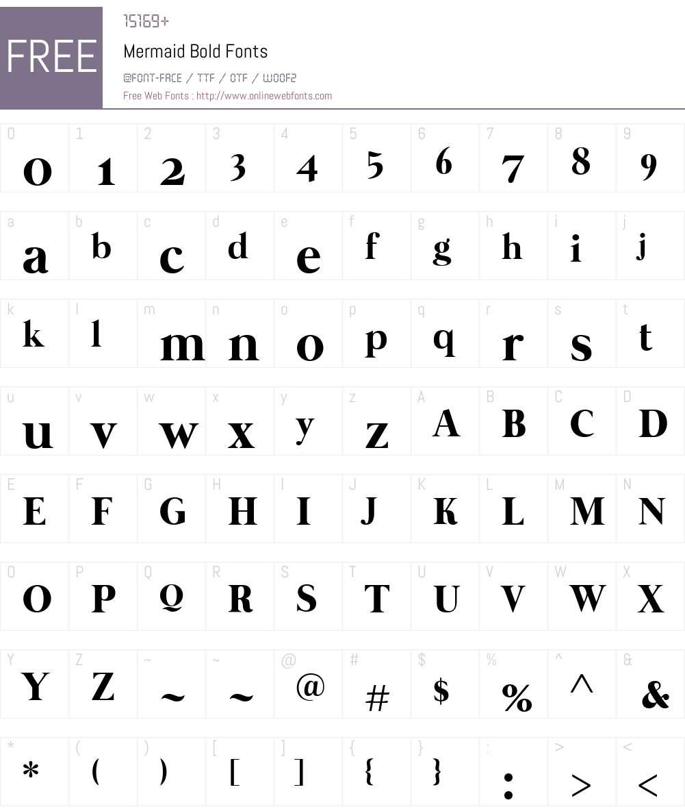 Mermaid Font Screenshots