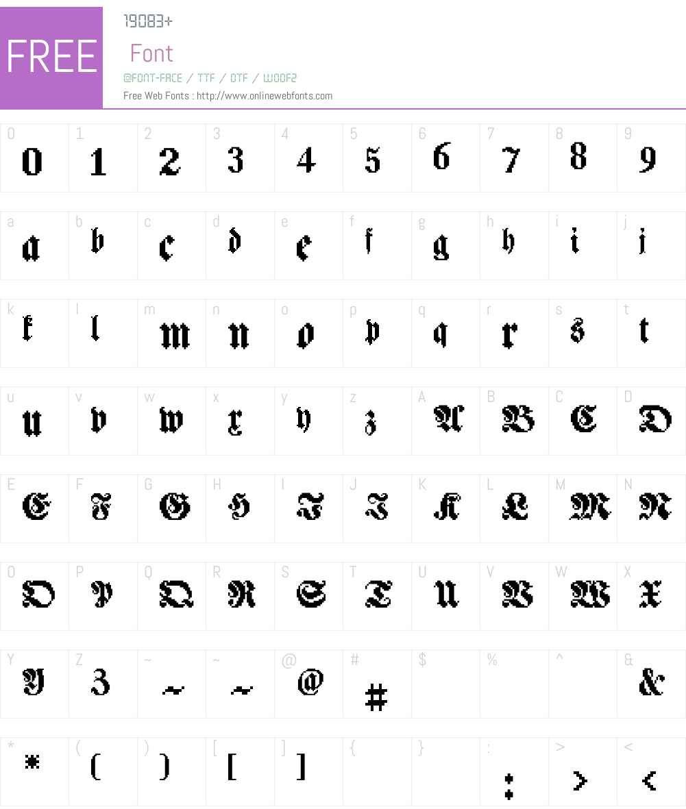 Pixtur Font Screenshots