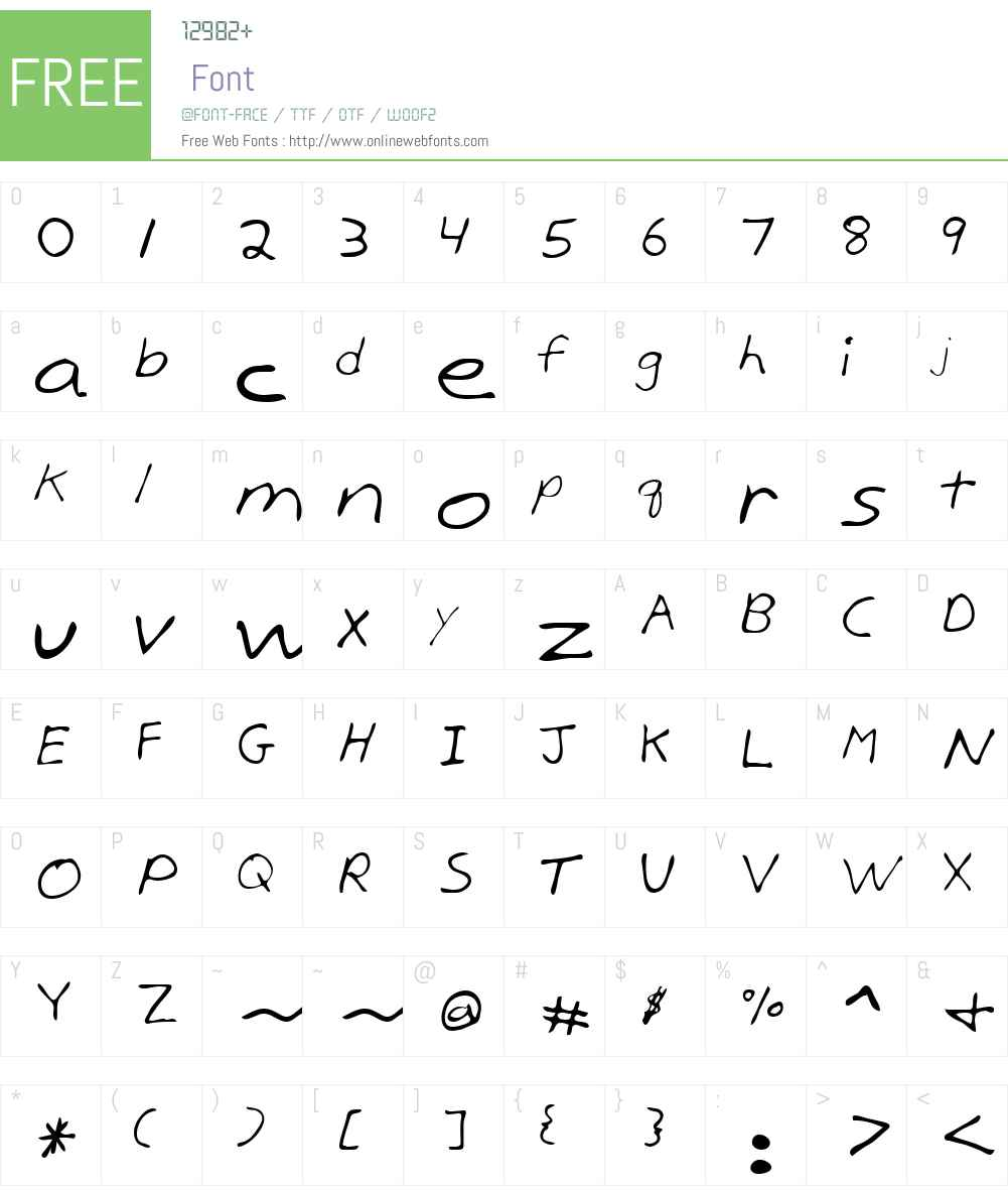 Birdlak Font Screenshots