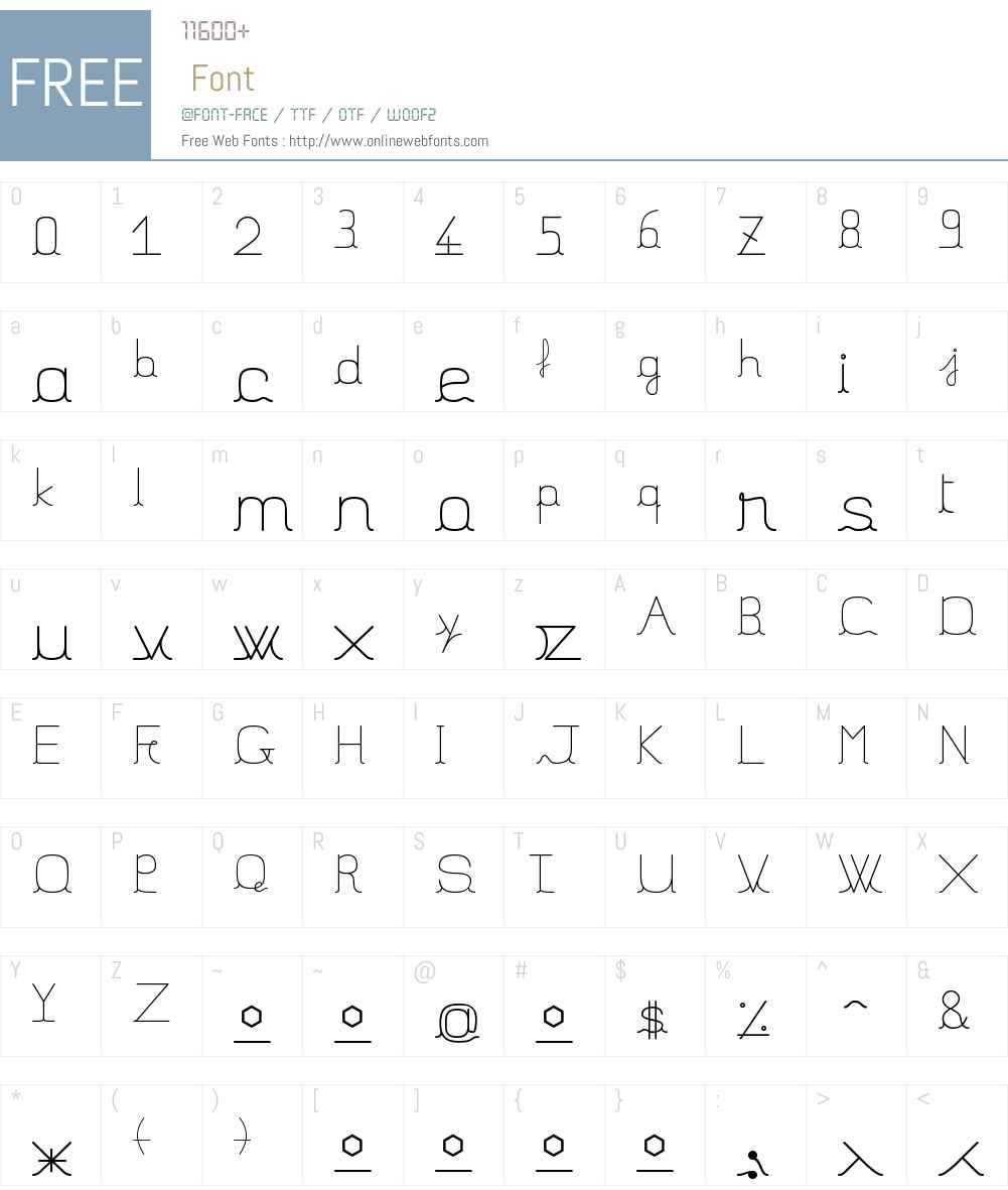 JBFil_std Font Screenshots