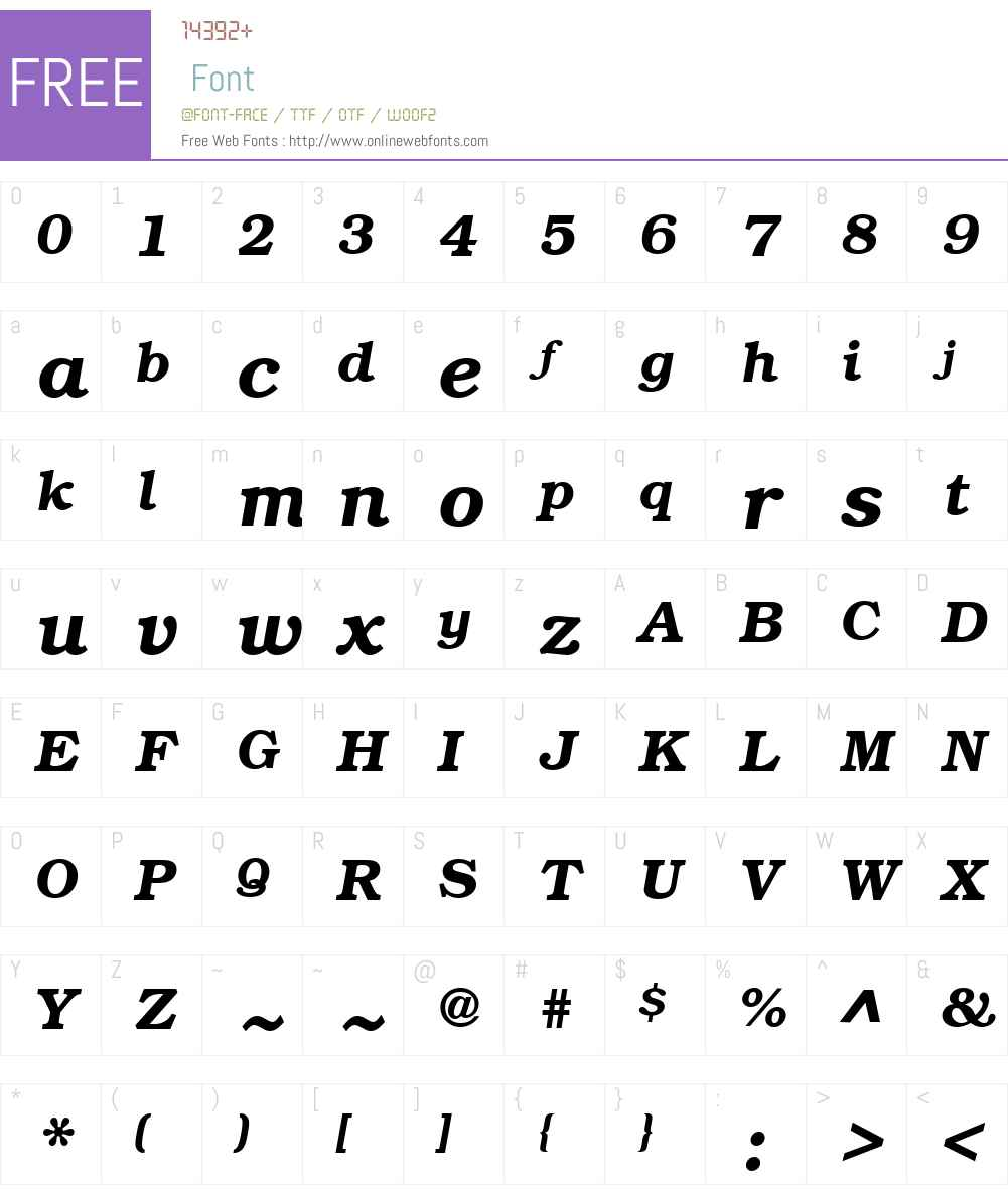 QTBookmann Font Screenshots