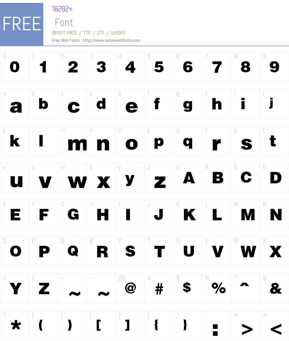 FZChaoCuHei-M10T Font Screenshots