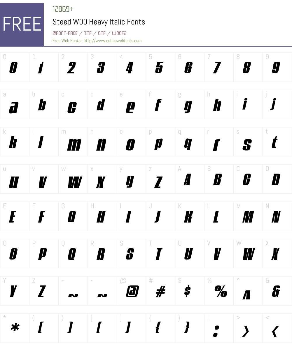 Steed Font Screenshots