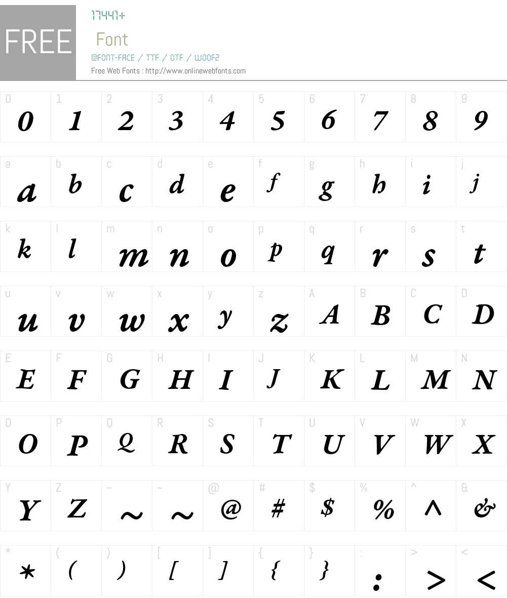Garamond Premier Pro Font Screenshots