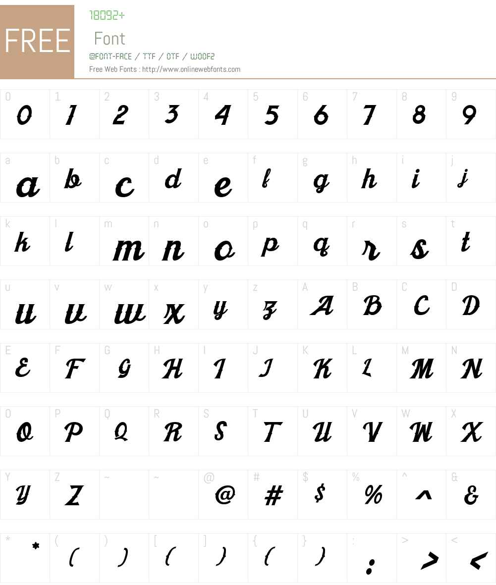 Khadija Spurs 1 Font Screenshots