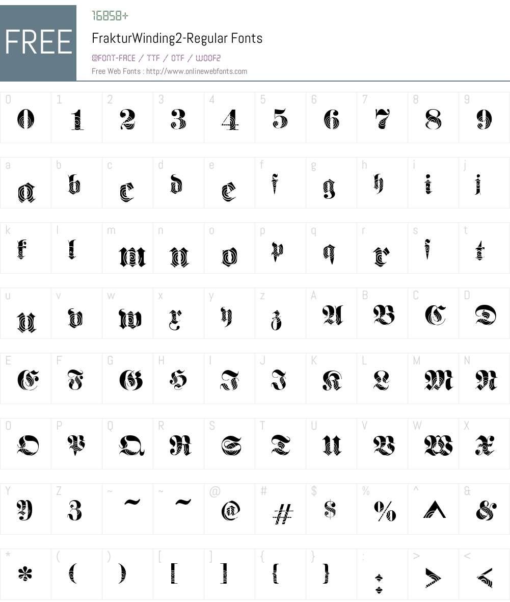 FrakturWinding2 Font Screenshots