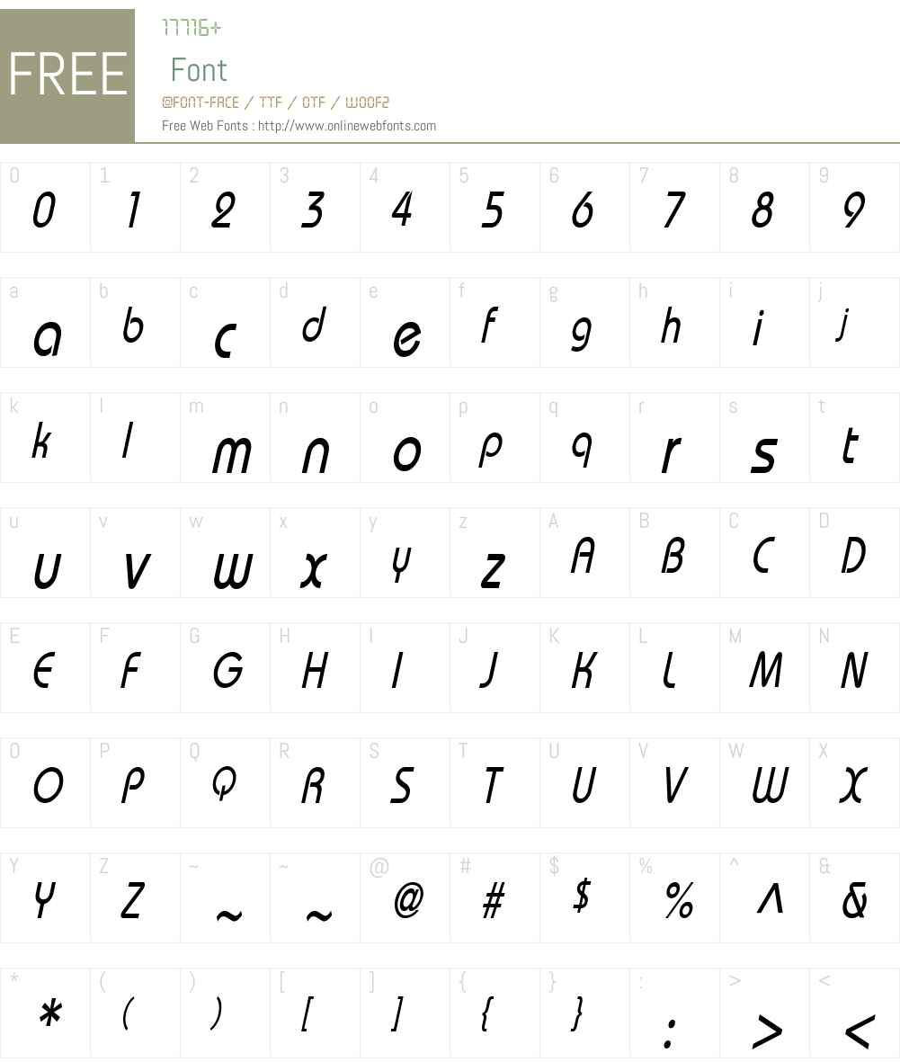Bimini Condensed Font Screenshots