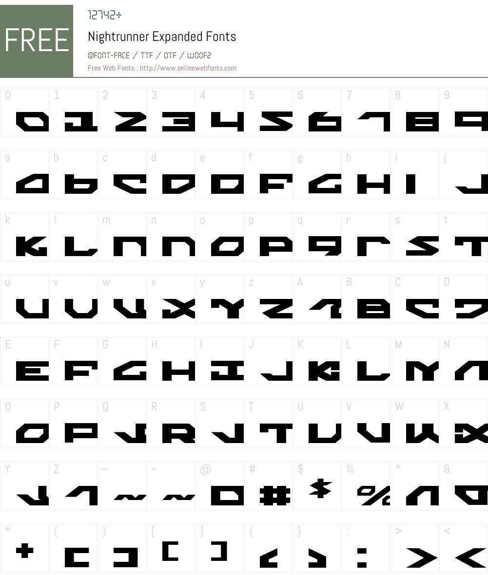 Nightrunner Expanded Font Screenshots