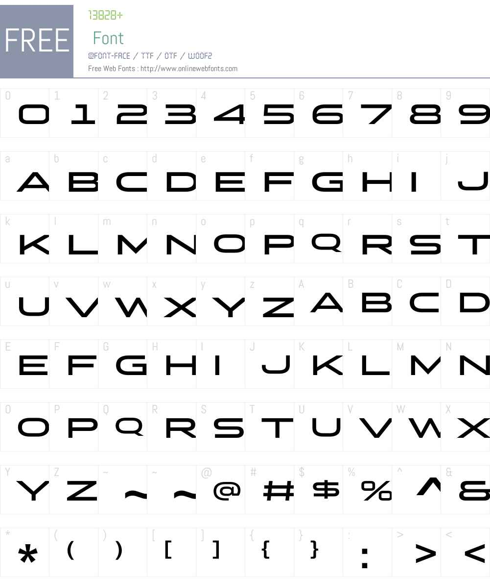 StereoGothicW01-650 Font Screenshots