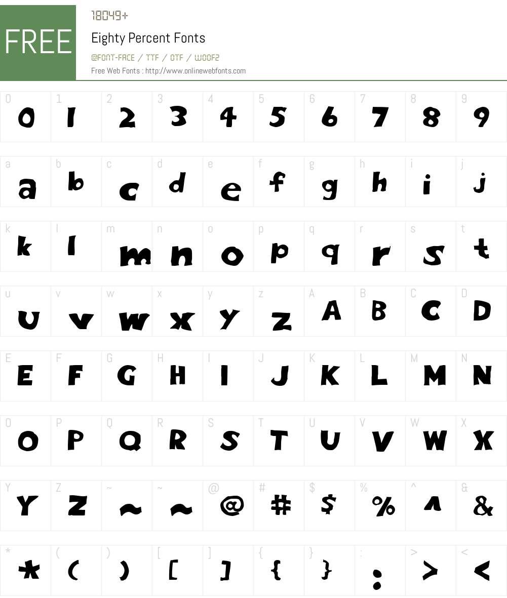 Eighty Percent Font Screenshots