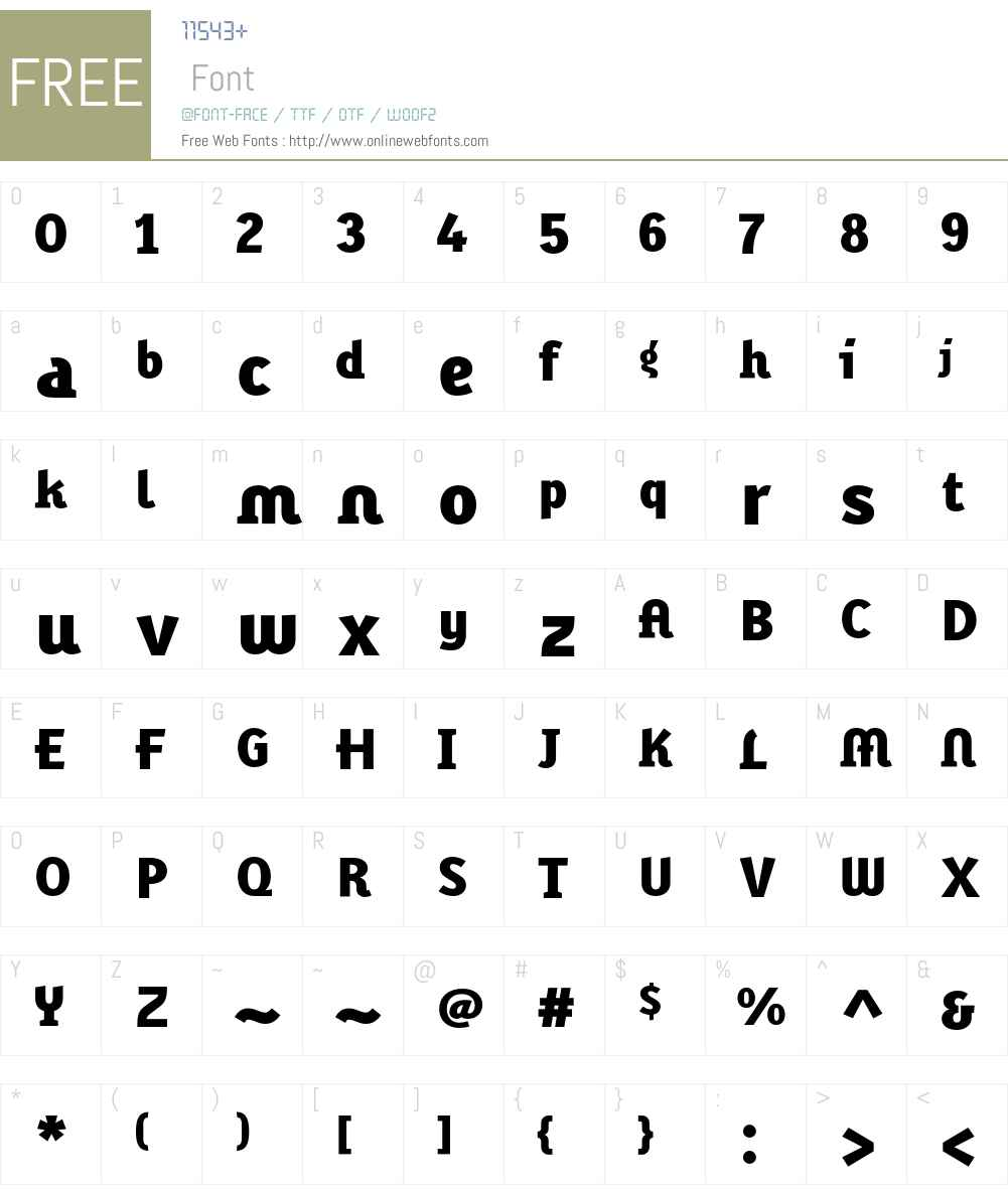KarbidDisplay Font Screenshots