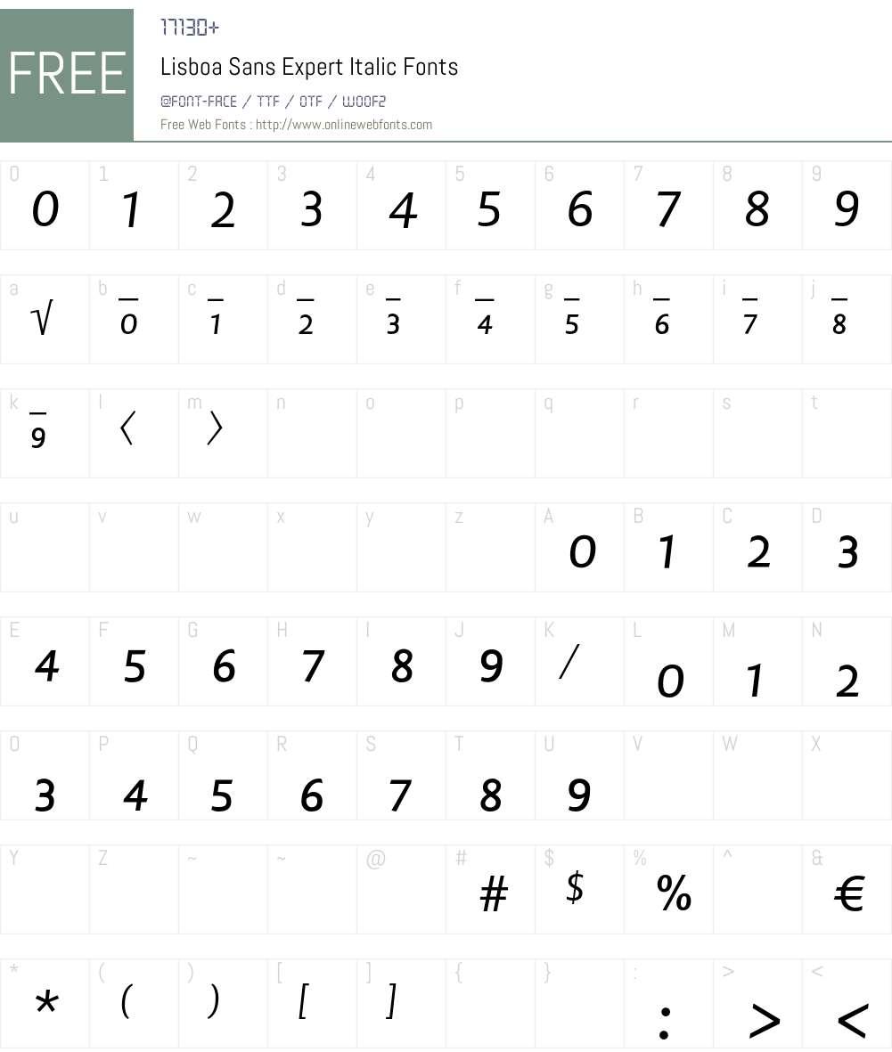 Lisboa Sans Expert Font Screenshots