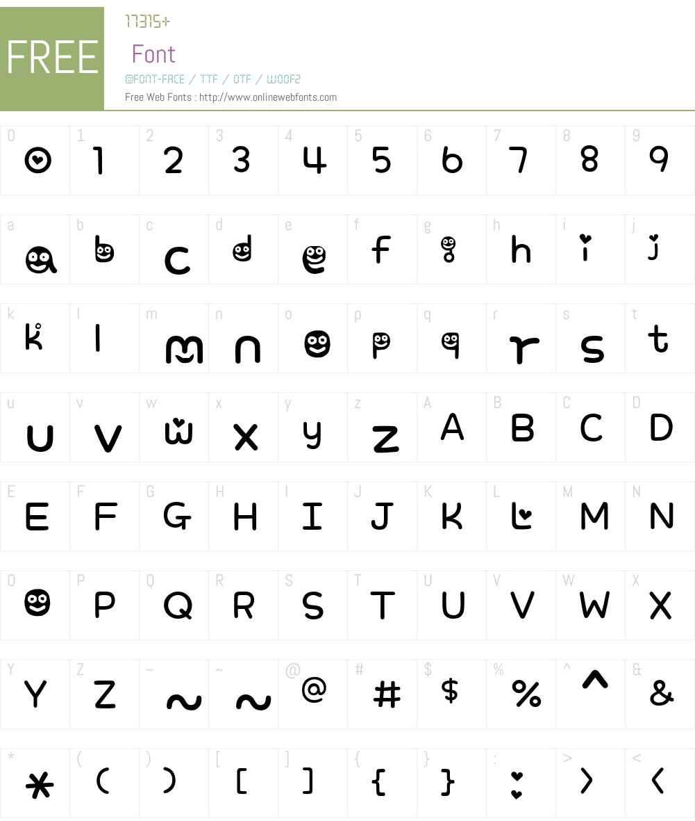 Sweet Smile Font Screenshots