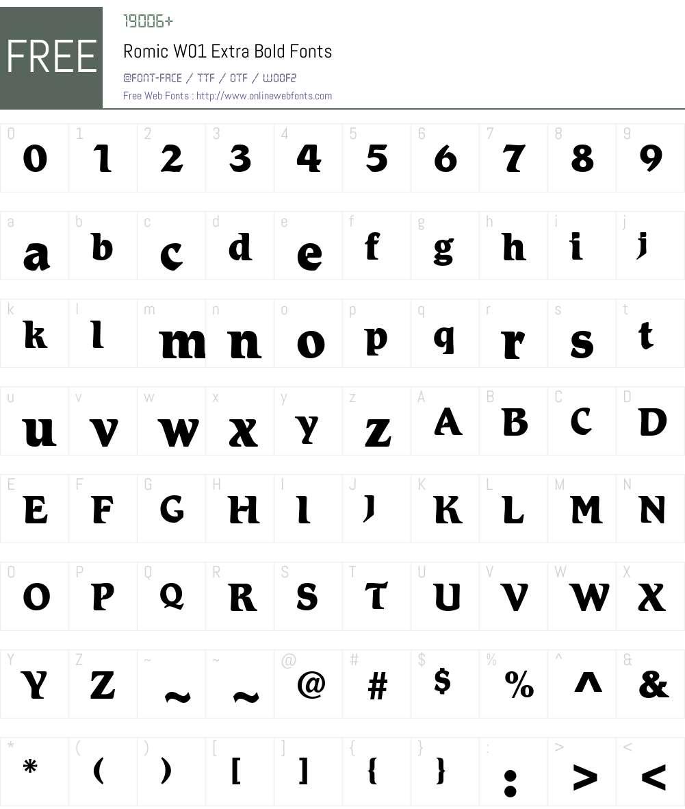 RomicW01-ExtraBold Font Screenshots