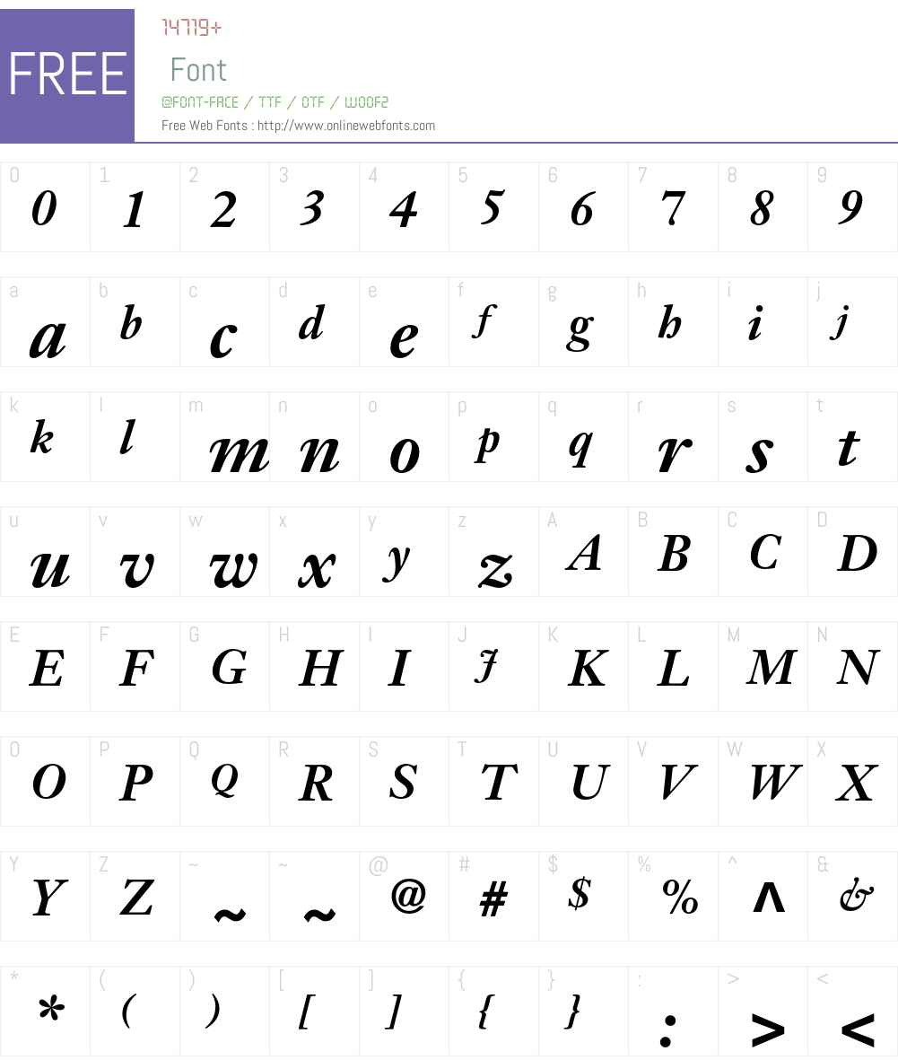 JansonText Font Screenshots