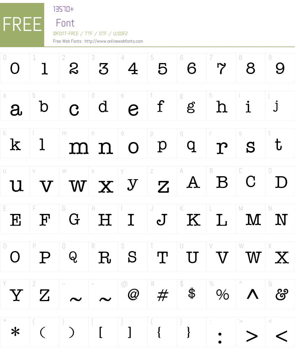 Keyboard Alternate SSi Font Screenshots