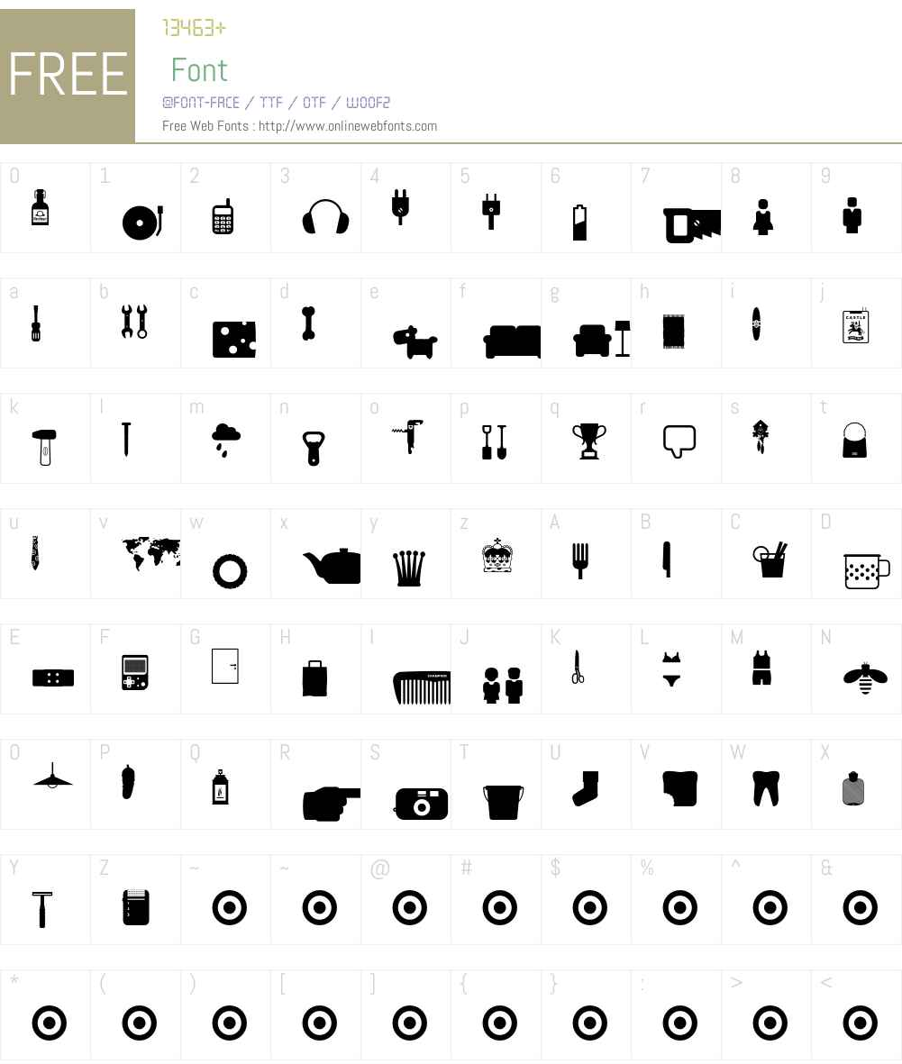 Ginger-Icons Font Screenshots
