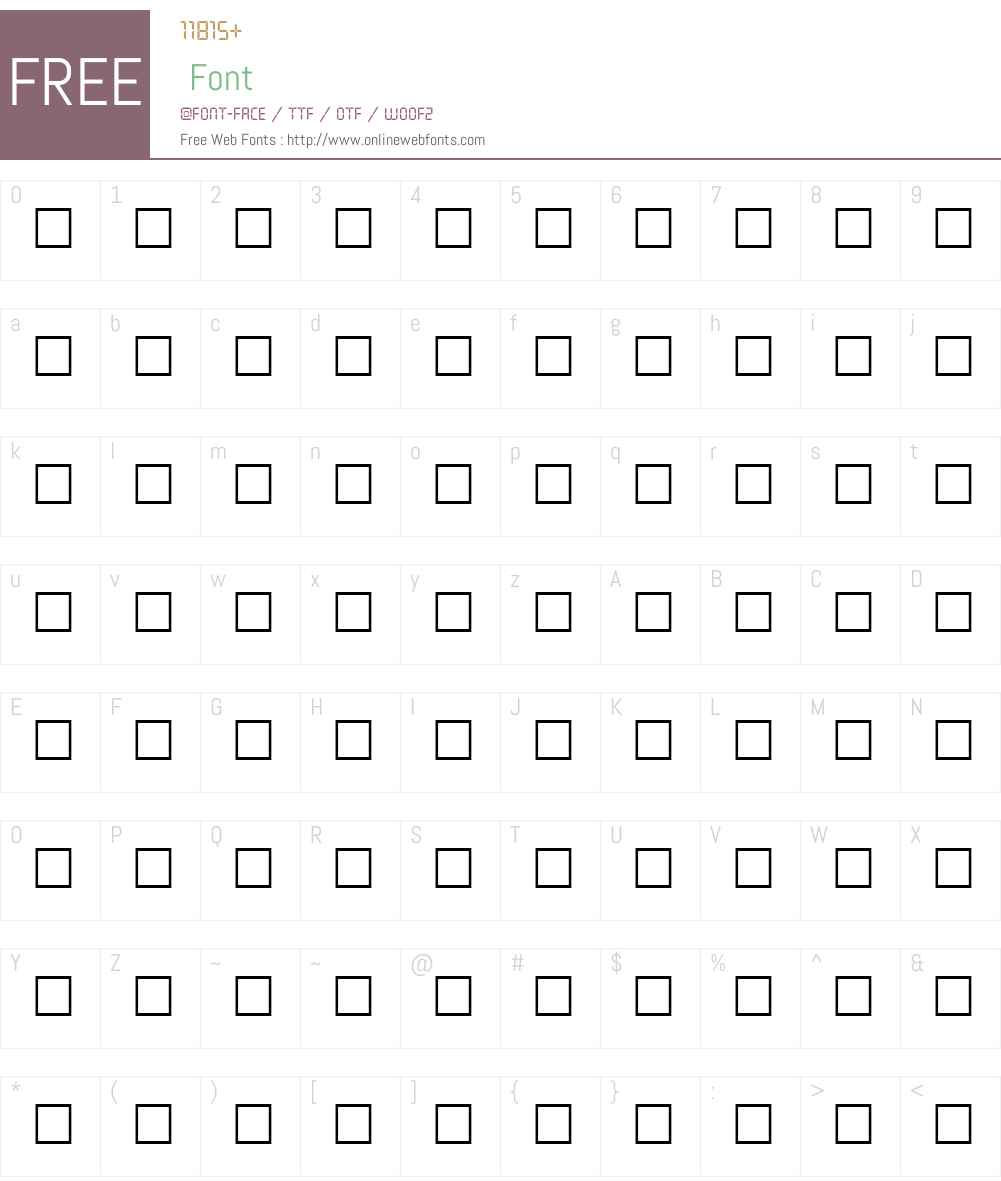UNDERPRESS Font Screenshots