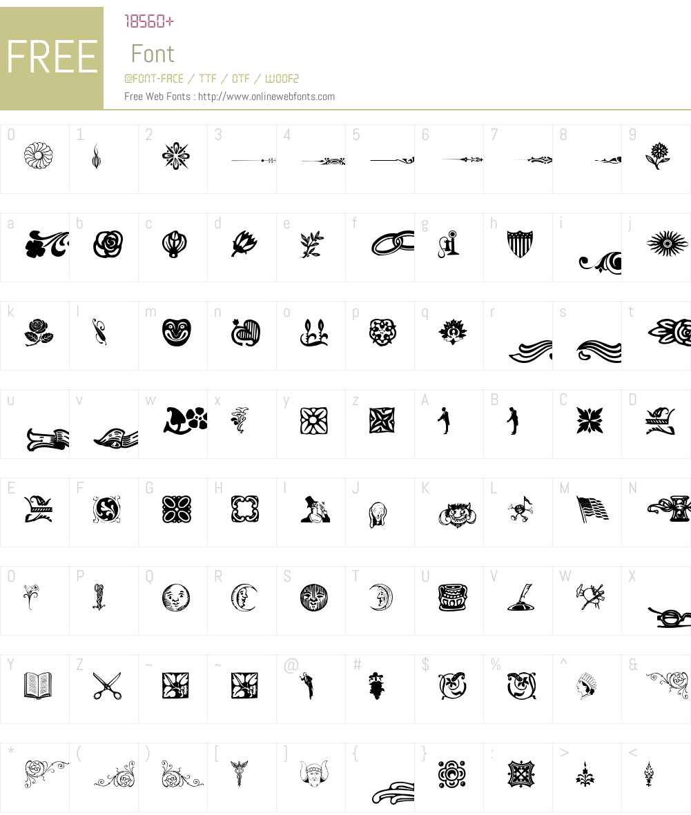 Davys Font Screenshots