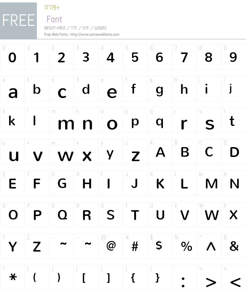 Nunito Font Screenshots