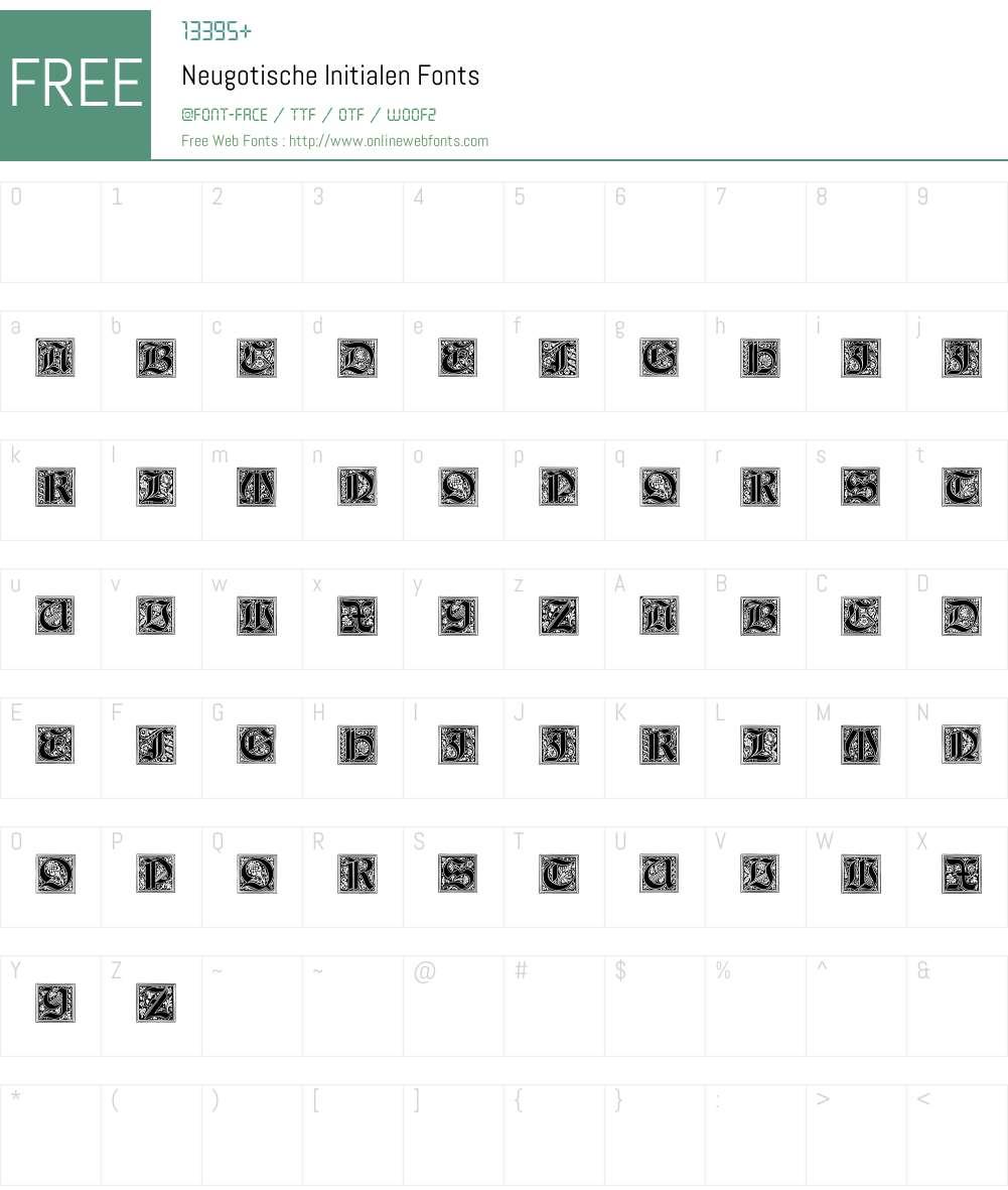 Neugotische Initialen Font Screenshots