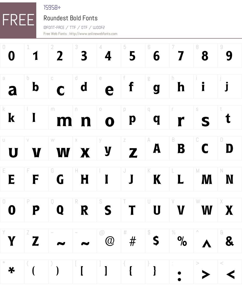 Roundest Font Screenshots