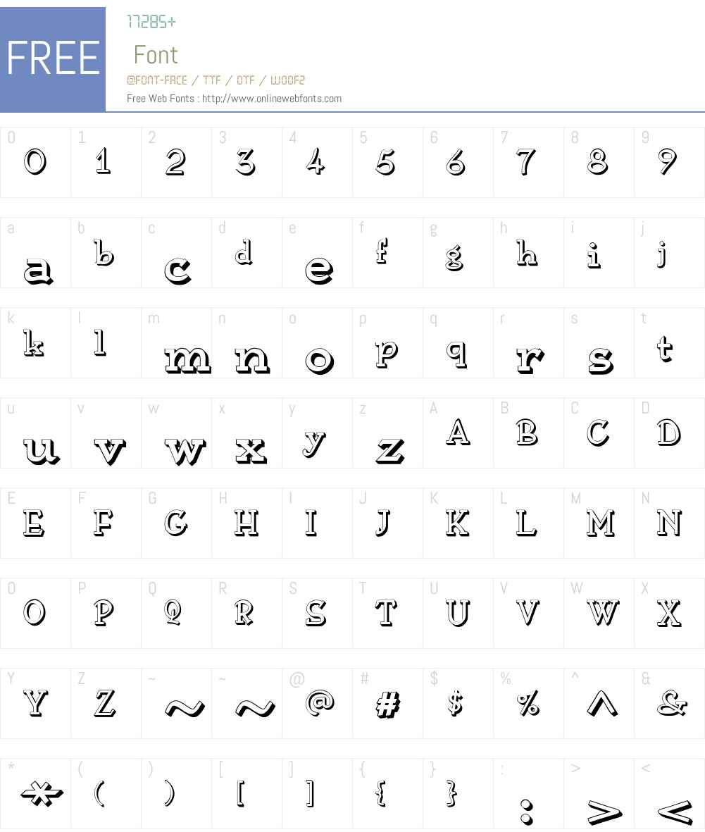 AnarckhieShadowW00-Regular Font Screenshots