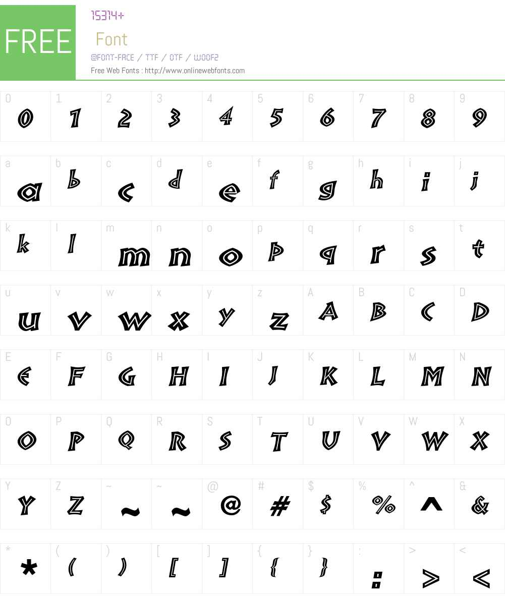 Pompeia Font Screenshots