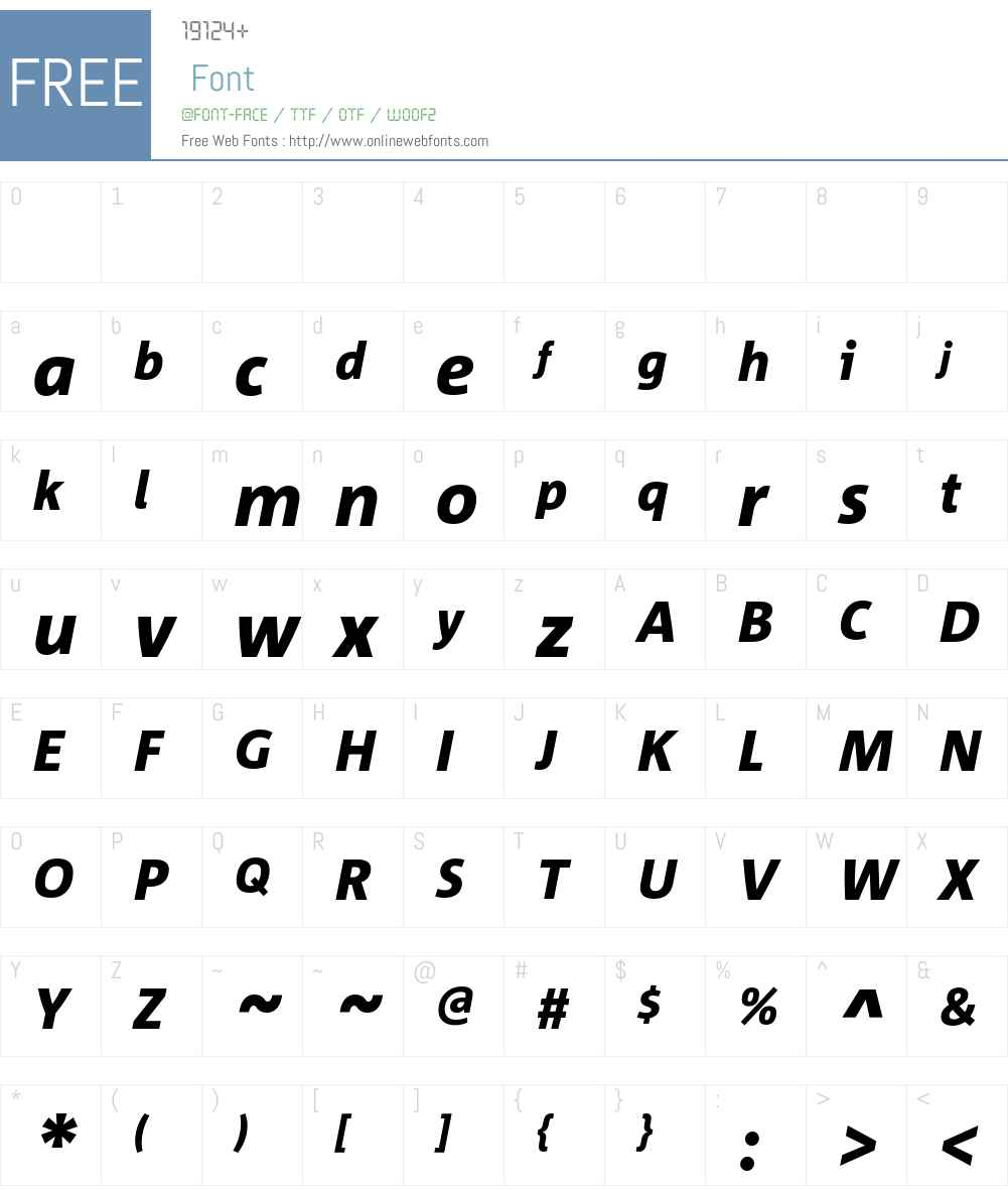 Corpid Font Screenshots