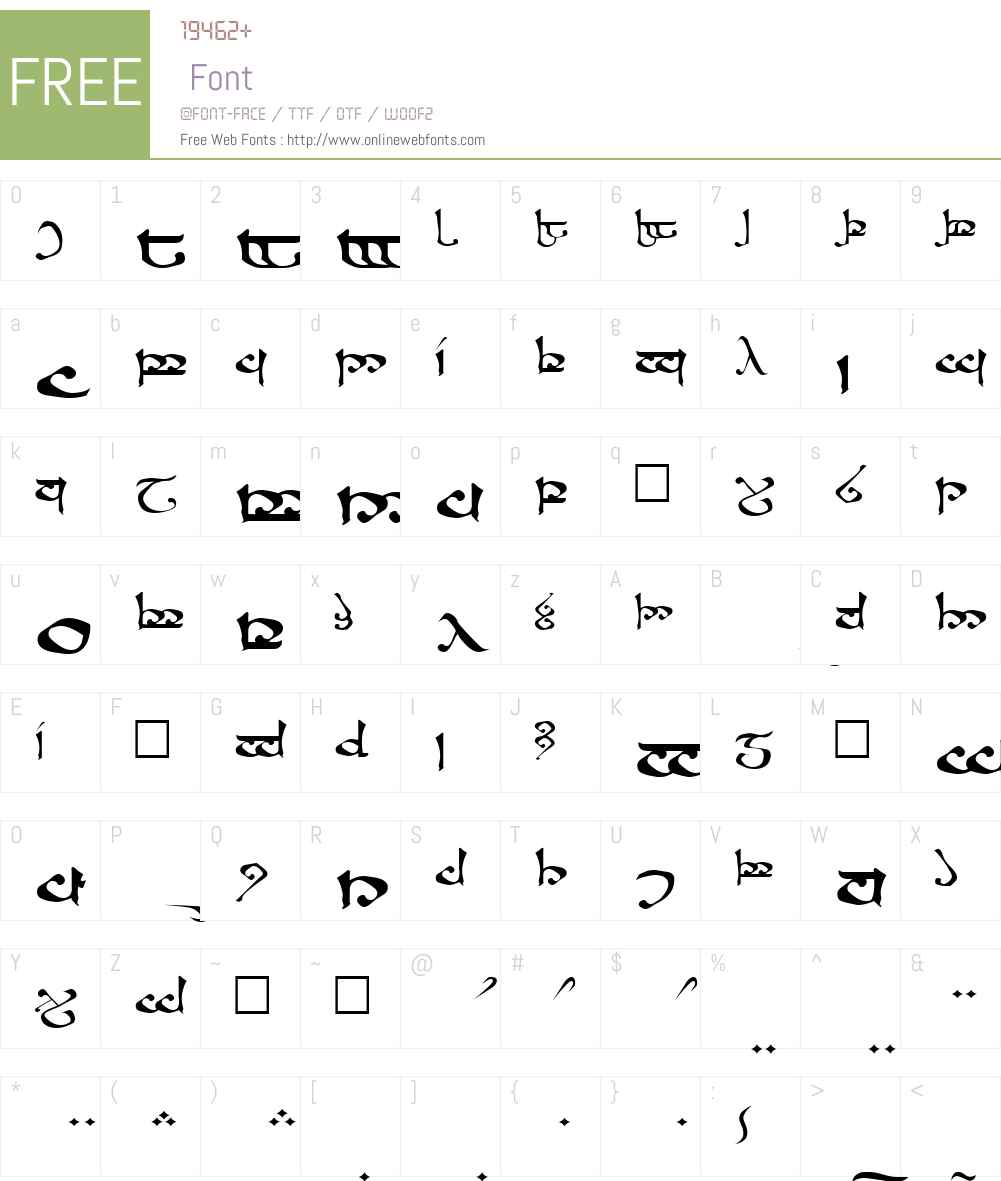 Moroma Font Screenshots