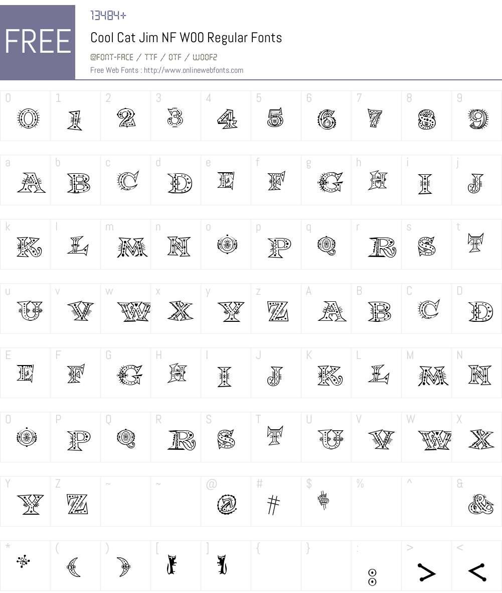 CoolCatJimNFW00-Regular Font Screenshots