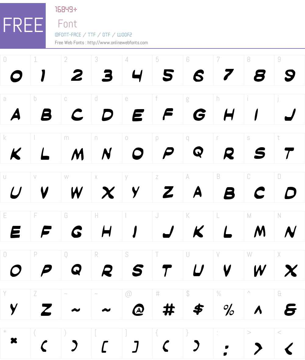 Masked Marvel Font Screenshots